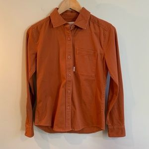 Dirt Button Shirt Burnt Rust Color *EXCLUDED